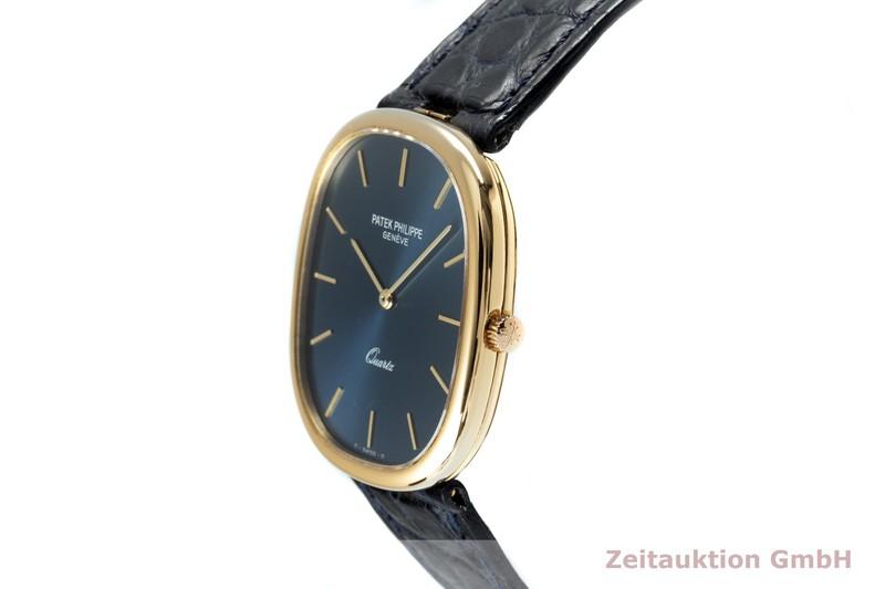 gebrauchte Luxusuhr Patek Philippe Ellipse 18k Gold Quarz Kal. E27 Ref. 3838    2102739 _0