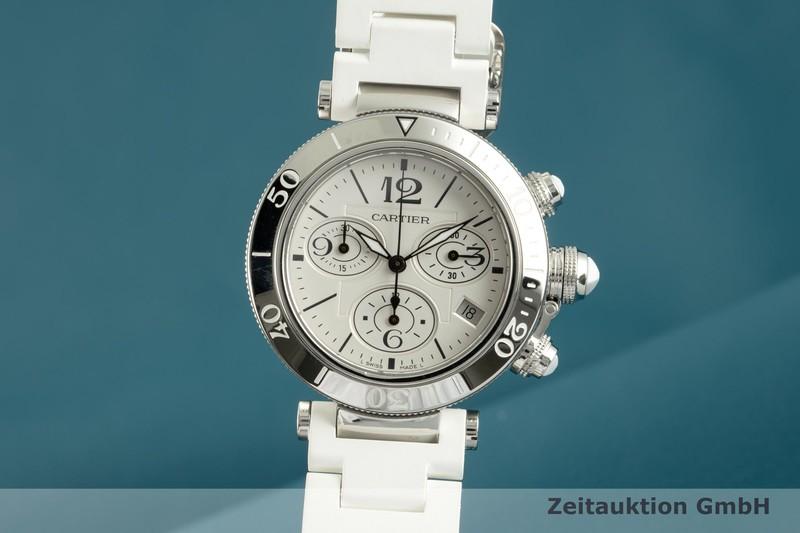 gebrauchte Luxusuhr Cartier Pasha Chronograph Stahl Quarz Kal. 7101 Ref. 3129  | 2102761 _0