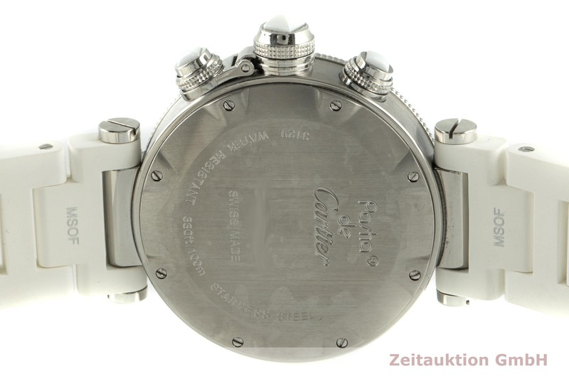 gebrauchte Luxusuhr Cartier Pasha Chronograph Stahl Quarz Kal. 7101 Ref. 3129  | 2102761 _1