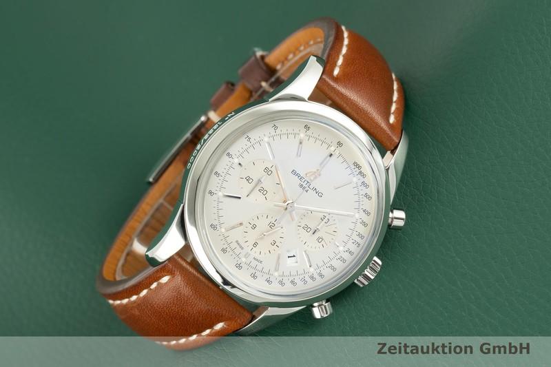 gebrauchte Luxusuhr Breitling Transocean Chronograph Stahl Automatik Kal. B01 Ref. AB0151 LIMITED EDITION   2102776 _0