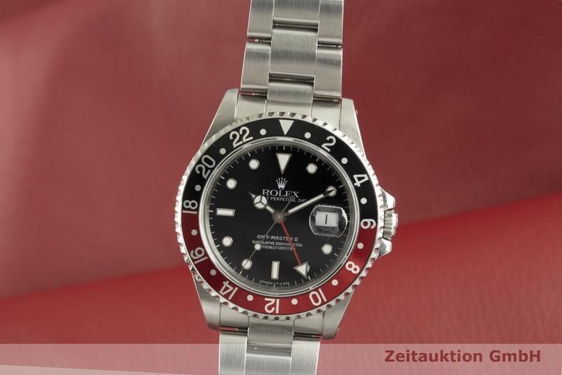 gebrauchte Luxusuhr Rolex GMT Master II Stahl Automatik Kal. 3185 Ref. 16710  | 2102779 _0