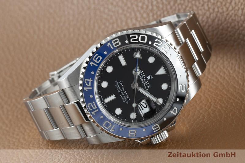 gebrauchte Luxusuhr Rolex GMT Master II Stahl Automatik Kal. 3186 Ref. 116710BLNR  | 2102798 _0