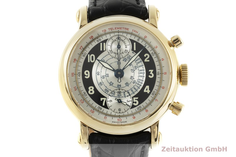 gebrauchte Luxusuhr Franck Muller * Chronograph 18k Gold Automatik Ref. 7000CCS3645    2102830 _0
