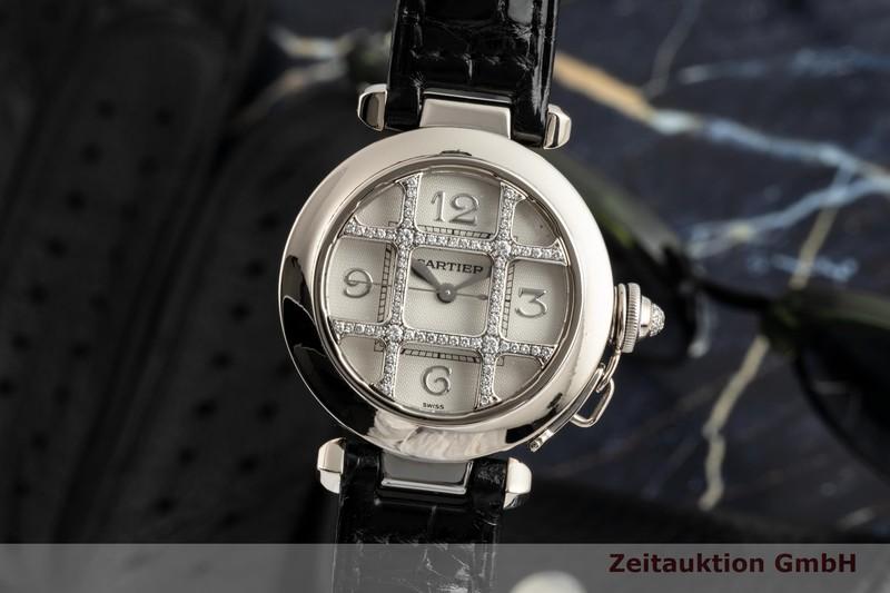 gebrauchte Luxusuhr Cartier Pasha 18k Weissgold Automatik Kal. 120 Ref. 2400  | 2102884 _0