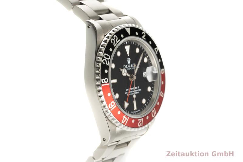 gebrauchte Luxusuhr Rolex GMT Master II Stahl Automatik Kal. 3185 Ref. 16710  | 2102915 _0