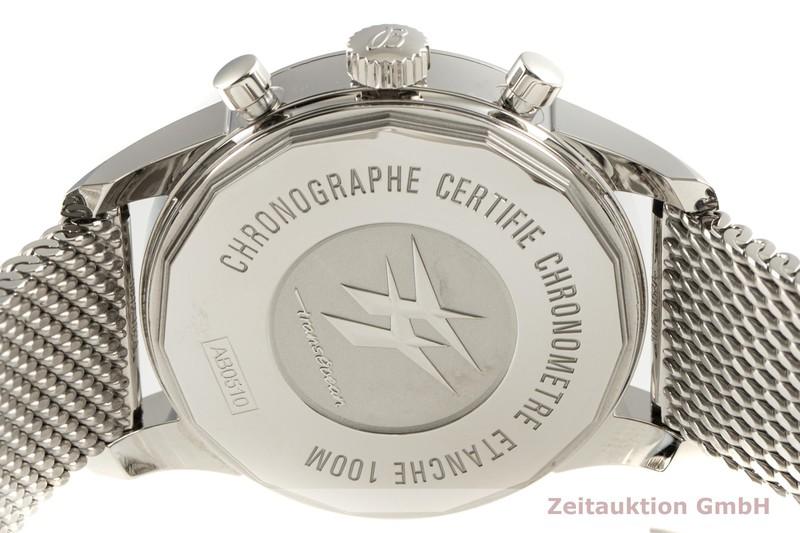 gebrauchte Luxusuhr Breitling Transocean Chronograph Stahl Automatik Kal. B05 Ref. AB0510  | 2102948 _1