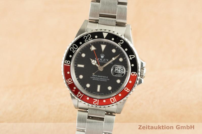 gebrauchte Luxusuhr Rolex GMT Master II Stahl Automatik Kal. 3085 Ref. 16760    2102968 _0
