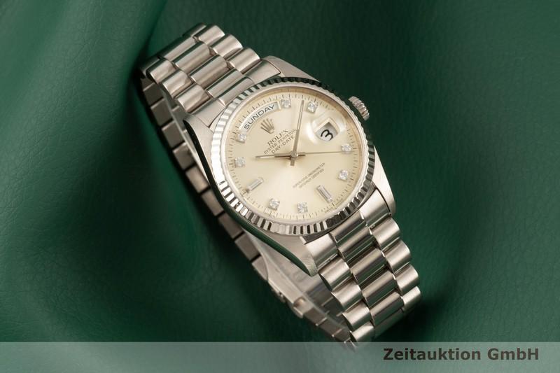 gebrauchte Luxusuhr Rolex Day-Date 18k Weissgold Automatik Kal. 3155 Ref. 18239  | 2102975 _0