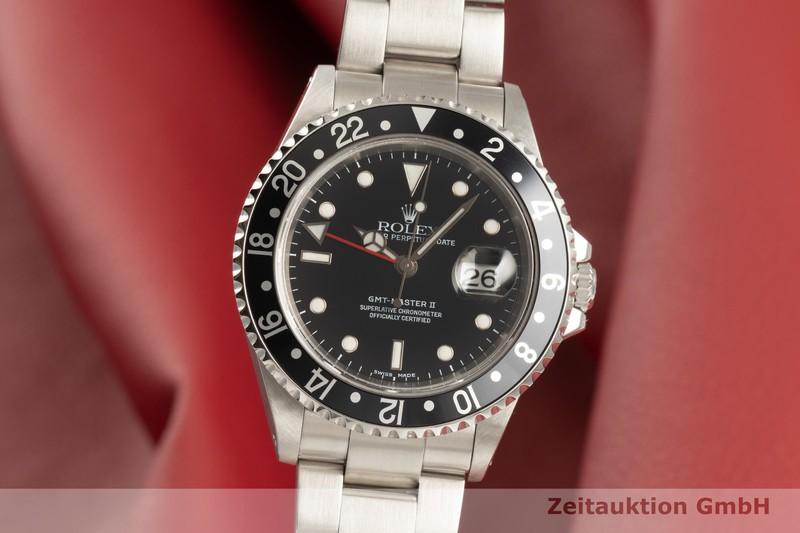 gebrauchte Luxusuhr Rolex GMT Master II Stahl Automatik Kal. 3185 Ref. 16710    2102988 _0