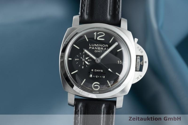gebrauchte Luxusuhr Panerai Luminor GMT Stahl Handaufzug Kal. P2002 Ref. PAM00233, OP6660  | 2103008 _0
