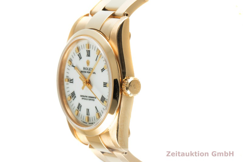 gebrauchte Luxusuhr Rolex Oyster Perpetual 18k Gold Automatik Kal. 2130 Ref. 67488  | 2103041 _0