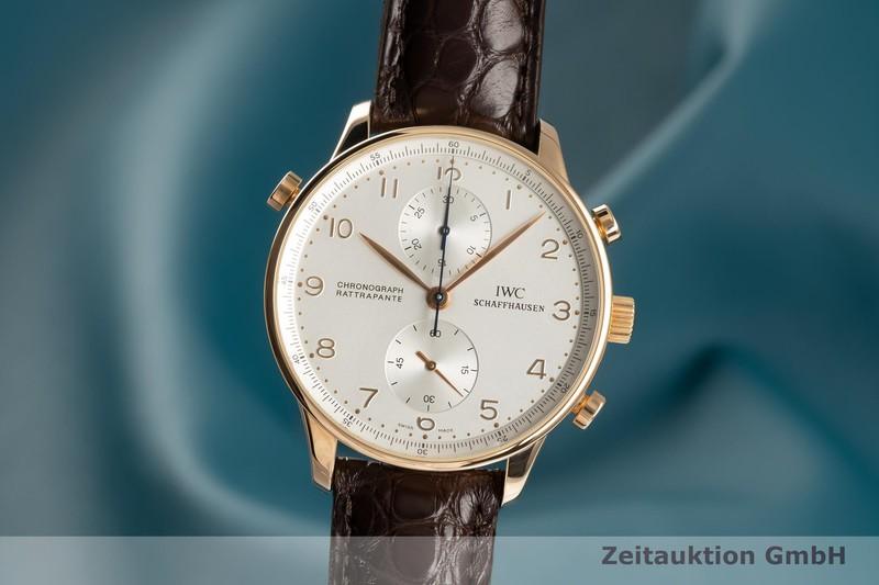 gebrauchte Luxusuhr IWC Portugieser Chronograph 18k Gold Handaufzug Kal. C.76240 Ref. IW3712    2103065 _0