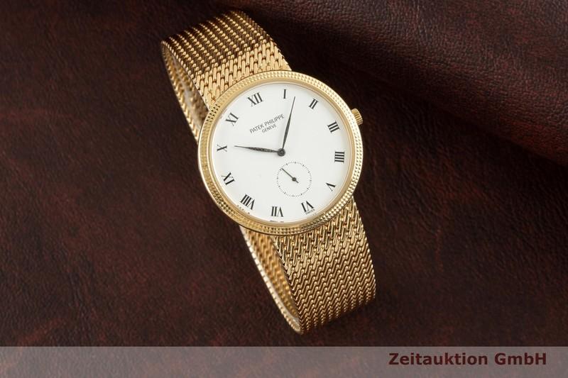 gebrauchte Luxusuhr Patek Philippe Calatrava 18k Gold Handaufzug Kal. 215 Ref. 3919/5  | 2103066 _0
