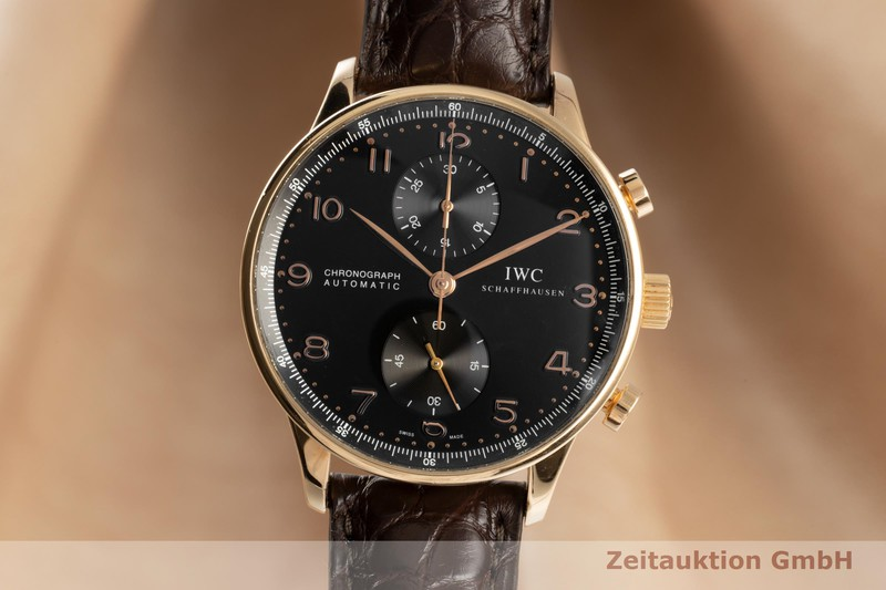 gebrauchte Luxusuhr IWC Portugieser Chronograph 18k Rotgold Automatik Kal. C.79240 Ref. IW371415  | 2103071 _0