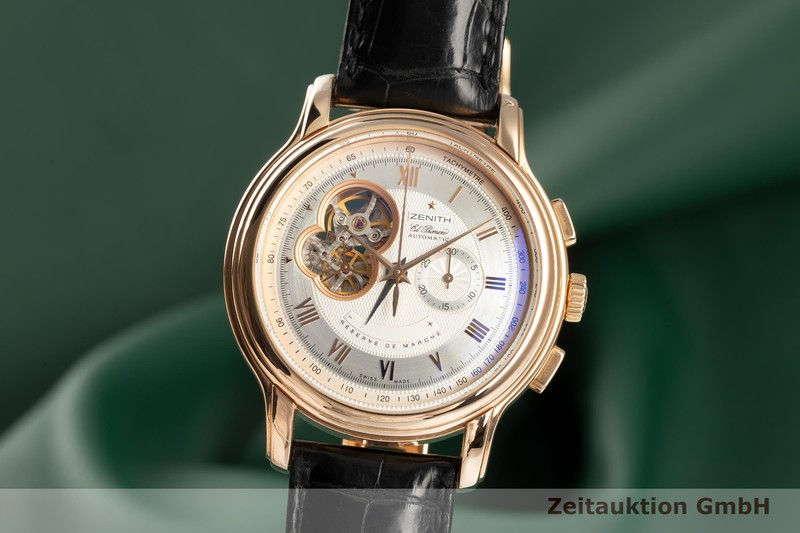 gebrauchte Luxusuhr Zenith El Primero Chronograph 18k Rotgold Automatik Kal. 4021 Ref. 18.1260.4021  | 2103079 _0