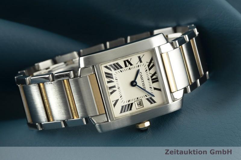 gebrauchte Luxusuhr Cartier Tank Francaise Stahl / Gold Quarz Kal. 175L Ref. 2465  | 2103119 _0