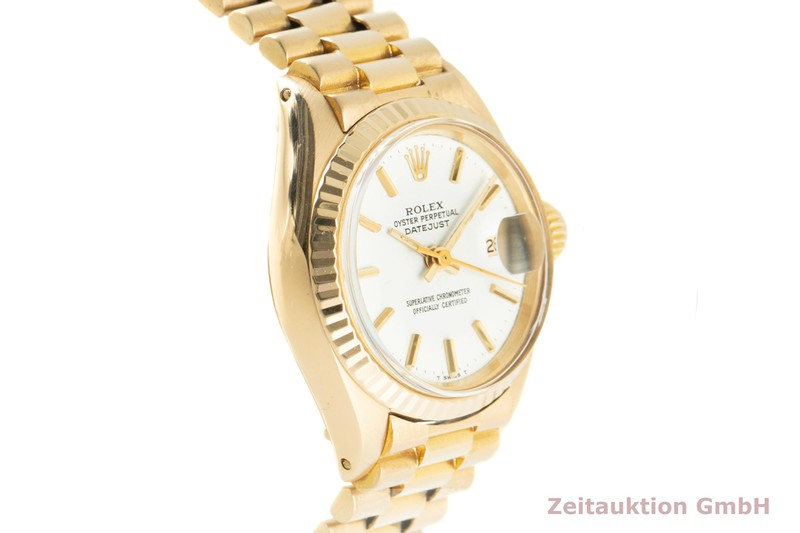 gebrauchte Luxusuhr Rolex Lady Datejust 18k Gold Automatik Kal. 2030 Ref. 6916/6917    2103137 _0