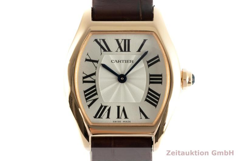 gebrauchte Luxusuhr Cartier Tortue 18k Rotgold Automatik Kal. 8971MC Ref. 3698  | 2103144 _0