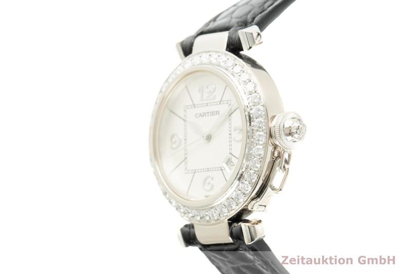 gebrauchte Luxusuhr Cartier Pasha 18k Weissgold Automatik Kal. 120 Ref. 2398    2103188 _0