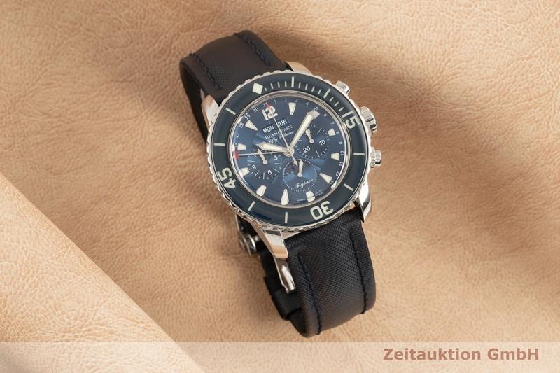gebrauchte Luxusuhr Blancpain Fifty Fathoms Chronograph Stahl Automatik Kal. 66BF8 Ref. 5066F-1140-52B  | 2103241 _0