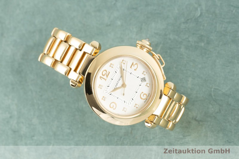 gebrauchte Luxusuhr Cartier Pasha 18k Gold Automatik Kal. 500MC Ref. WJ1110H9, 2519  | 2103264 _0
