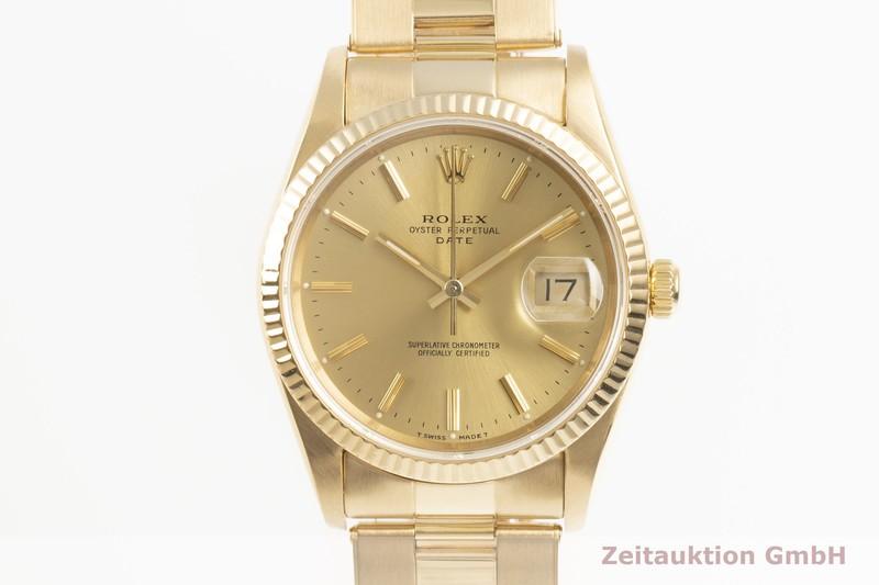 gebrauchte Luxusuhr Rolex Date 18k Gold Automatik Kal. 3135 Ref. 15238  | 2103279 _0