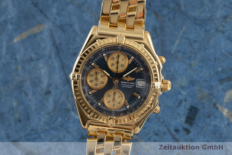 gebrauchte Luxusuhr Breitling Chronomat Chronograph 18k Gold Automatik Kal. B13 Ref. K13050.1    2103296 _0