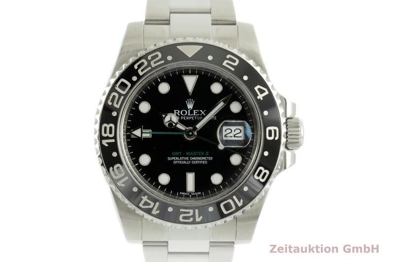 gebrauchte Luxusuhr Rolex GMT Master II Stahl Automatik Kal. 3186 Ref. 116710    2103392 _0