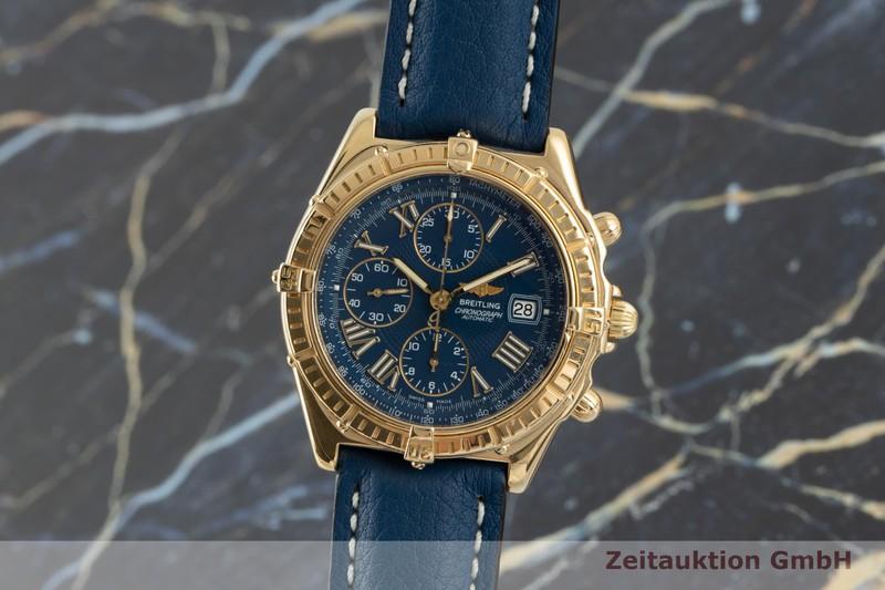 gebrauchte Luxusuhr Breitling Crosswind Chronograph 18k Gold Automatik Kal. B13 Ref. K13055    2103556 _0