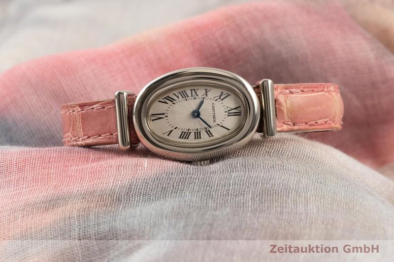 gebrauchte Luxusuhr Cartier Baignoire 18k Weissgold Quarz Kal. 057.06 Ref. 2295  | 2103775 _0