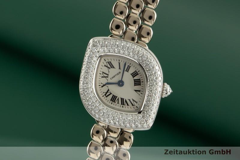 gebrauchte Luxusuhr Cartier * 18k Weissgold Quarz Kal. 157.06 Ref. 2359    2103787 _0