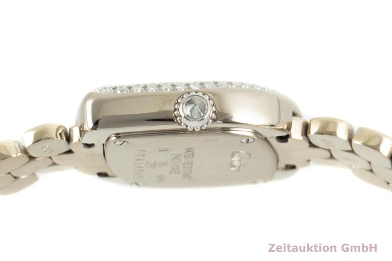 gebrauchte Luxusuhr Cartier * 18k Weissgold Quarz Kal. 157.06 Ref. 2359    2103787 _1