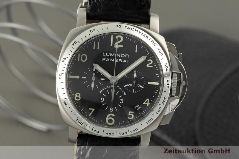gebrauchte Luxusuhr Panerai Luminor  Chronograph Stahl / Titan Automatik Kal. 400Z Ref. PAM00074  | 2103809 _0