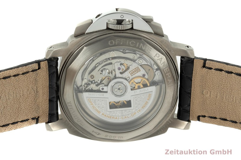 gebrauchte Luxusuhr Panerai Luminor  Chronograph Stahl / Titan Automatik Kal. 400Z Ref. PAM00074  | 2103809 _1
