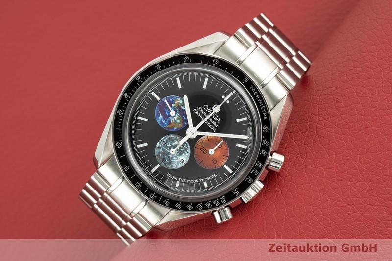 gebrauchte Luxusuhr Omega Speedmaster Chronograph Stahl Handaufzug Kal. 1861 Ref. 3577.50.00, 145.0228    2103827 _0
