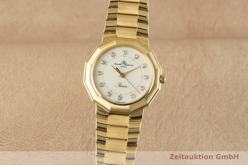 gebrauchte Luxusuhr Baume & Mercier Riviera 18k Gold Quarz Ref. 87012.1  | 2103902 _0