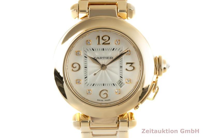 gebrauchte Luxusuhr Cartier Pasha 18k Gold Automatik Kal. 120 Ref. 2397    2104025 _0