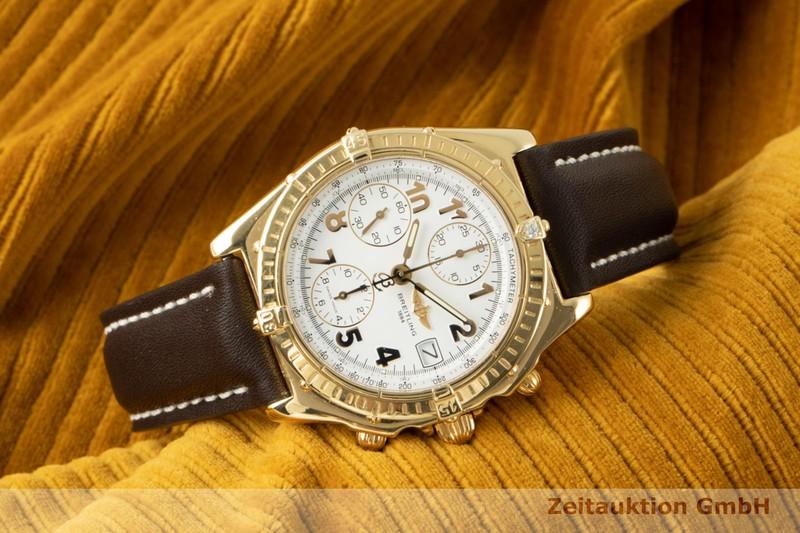 gebrauchte Luxusuhr Breitling Chronomat Chronograph 18k Gold Automatik Kal. B13 Ref. K13050.1    2104196 _0