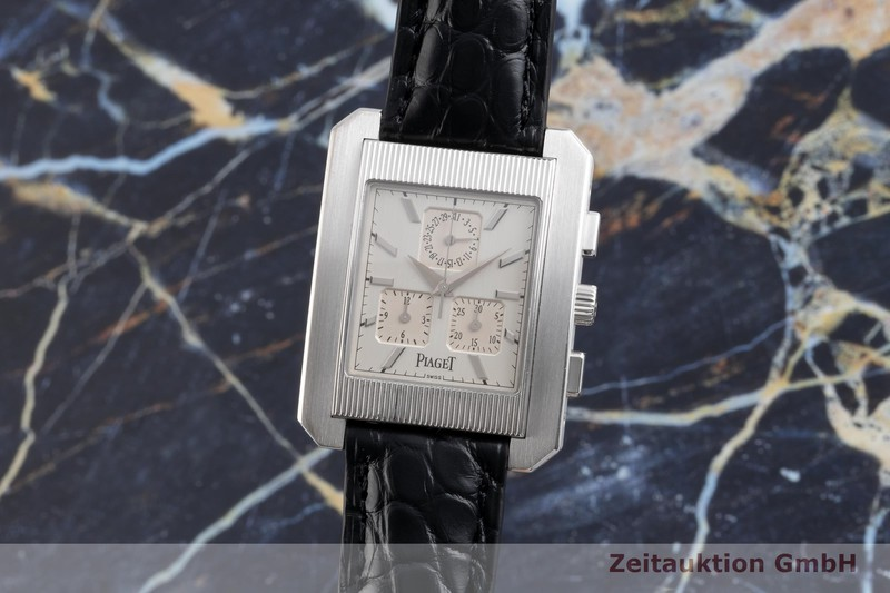 gebrauchte Luxusuhr Piaget Protocol Chronograph 18k Weissgold Quarz Kal. 212P Ref. 14600    2104200 _0