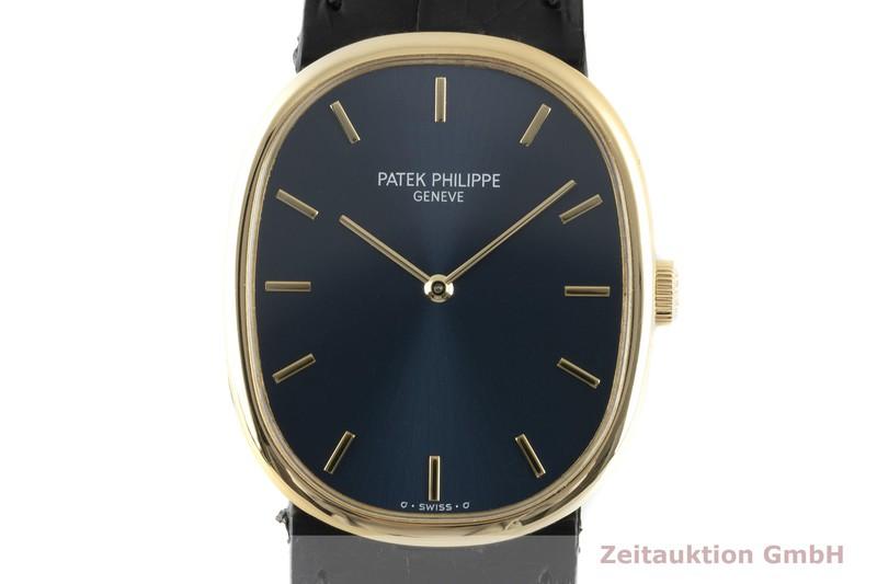 gebrauchte Luxusuhr Patek Philippe Golden Ellipse 18k Gold Handaufzug Kal. 215 Ref. 3848    2104232 _0