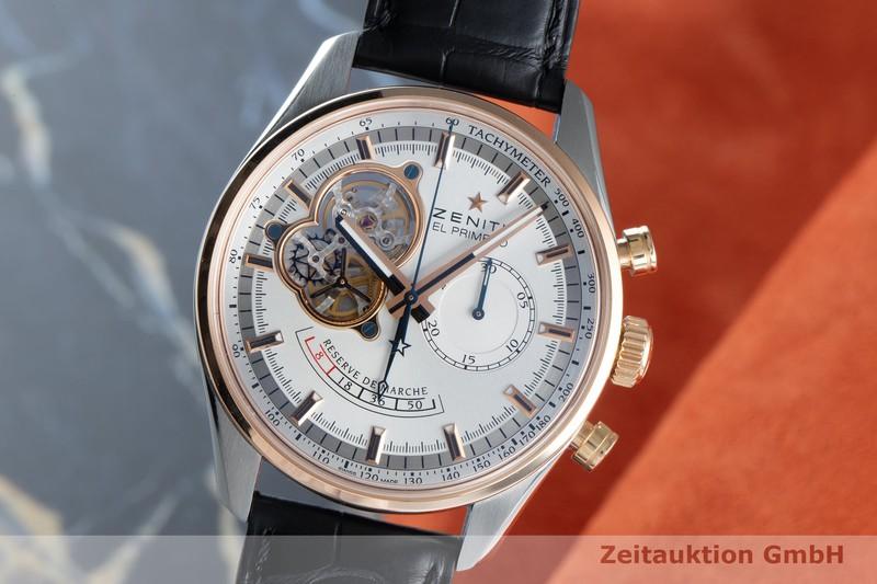 gebrauchte Luxusuhr Zenith El Primero Chronograph Stahl / Gold Automatik Kal. 4021 Ref. 51.2080.4021    2104237 _0