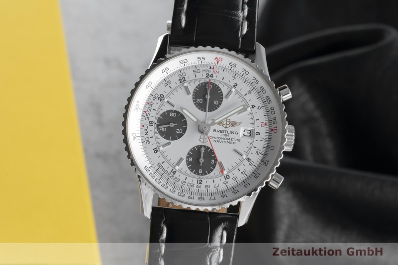 gebrauchte Luxusuhr Breitling Navitimer Chronograph 18k Weissgold Automatik Kal. B24 Ref. J24324 LIMITED EDITION   2104287 _0