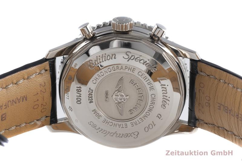 gebrauchte Luxusuhr Breitling Navitimer Chronograph 18k Weissgold Automatik Kal. B24 Ref. J24324 LIMITED EDITION   2104287 _1