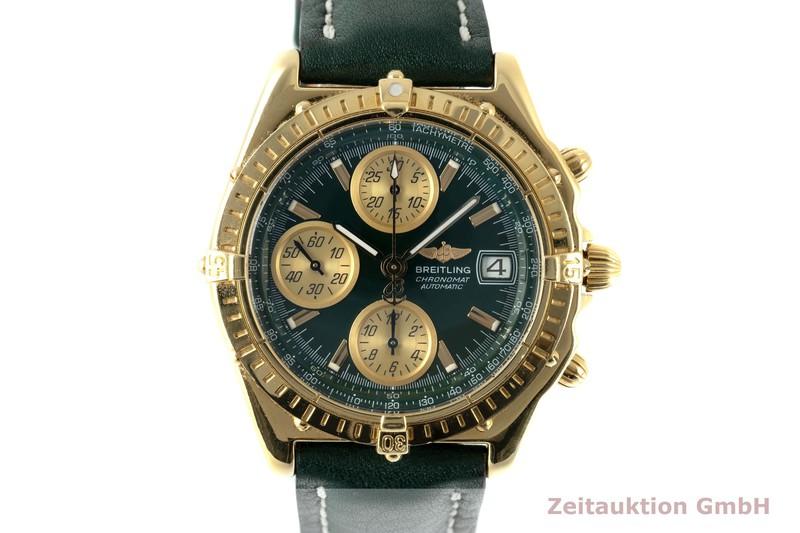 gebrauchte Luxusuhr Breitling Chronomat Chronograph 18k Gold Automatik Kal. B13 Ref. K13050.1  | 2104311 _0