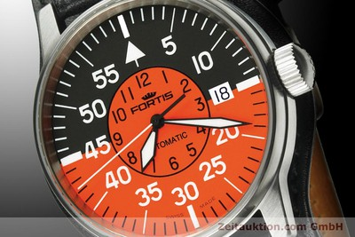 NEU - FORTIS FLIEGER COCKPIT AUTOMATIK ORANGE-BLACK 595.11.13 L 01 UVP: 995,- Euro [900001]