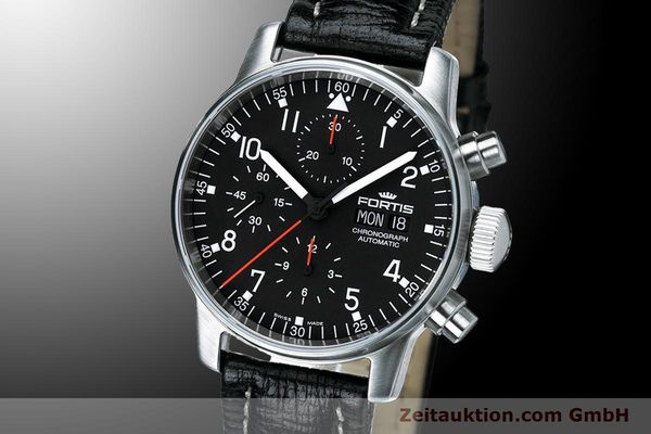 NEU - FORTIS PILOT PROFESSIONAL CHRONOGRAPH DAY-DATE 597.22.11L01 UVP: 2195,- Euro [900014]