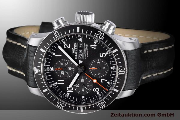 Used luxury watch Fortis B-42 chronograph steel automatic Ref. 638.10.11L01  | 900027 01