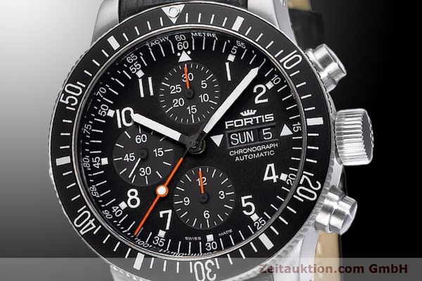 Used luxury watch Fortis B-42 chronograph steel automatic Ref. 638.10.11L01  | 900027 03