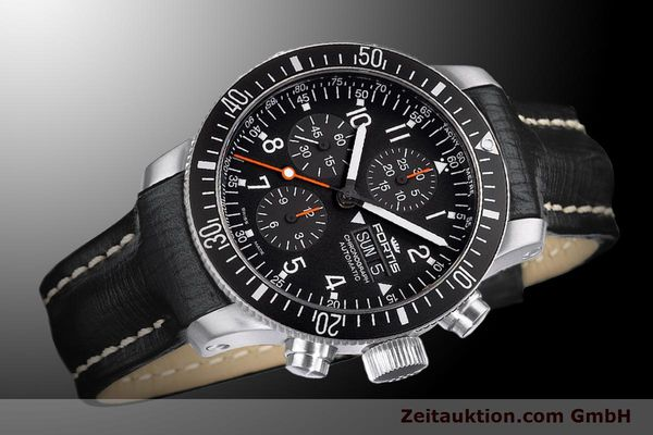 Used luxury watch Fortis B-42 chronograph steel automatic Ref. 638.10.11L01  | 900027 05