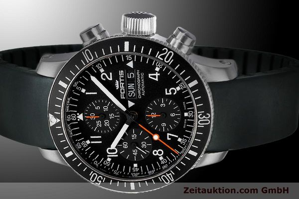 Used luxury watch Fortis B-42 chronograph steel automatic Ref. 628.10.11K  | 900029 01